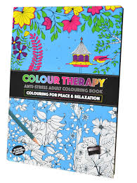 Colour Therapy Adult A4 88 Pages Hard Back Anti Stress Colouring Book