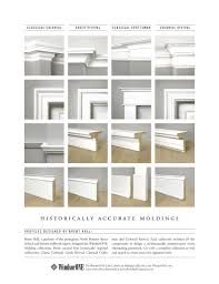 Four historically accurate molding styles pared side by side