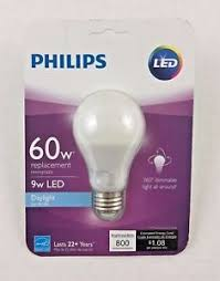 philips 60 watt replacement 9 watt led daylight light bulb 800