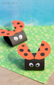 Paper Ladybug Craft For Kids To Make