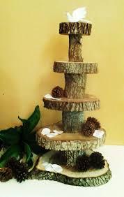 5 Tier RUSTIC WEDDING Oak Tree Trunk Cake Stand By JTLCREATIONS 20000