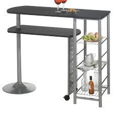 table haute cuisine table haute de bar mange debout comptoir josua mdf décor noir