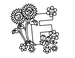 Letter F Kiddy Coloring Page