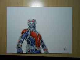 Drawing Ant Man Marvel By DibujarteRiestra