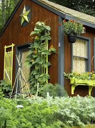 Garden Shed Ideas Rustic With Wood Exterior Hanging Planter Window Box