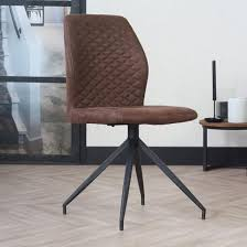 stuhlset im lederlook braun fürs esszimmer stühle