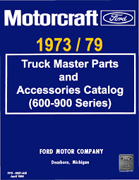 100 Ford Truck Parts Catalog DEMO 197379 Master And Accessories 600