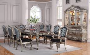 ACME Chantelle Antique Platinum Dining Room Set Includes Table And Two Chairs