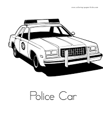 Police Car More Free Printable Transportation Coloring Pages
