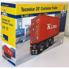 Italeri 3887 1:24 20ft Trailer Model Truck Kit - Italeri From KH ...