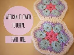 CROCHET African flower tutorial PART ONE
