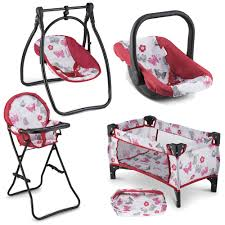 Litti Pritti 4 Piece Set Baby Doll Accessories - Includes Baby Doll Swing,  Baby Doll High Chair, Doll Pack N Play, Baby Doll Carrier – 18 Inch Doll ... Baby Alive Doll Deluxe High Chair Toy Us 1363 Abs Ding For Mellchan 8 12inch Reborn Supplies Kids Play House Of Accsories For Toysin Dolls 545 25 Off4pcslot Pink Nursery Table Chair 16 Barbie Dollhouse Fnitureplay House Amazoncom Cp Toys Wooden Fits 12 To 15 Annabell Highchair Messy Dinner Laundry Wash Washing Machine Hape Doll Highchair Mini With Cradle Walker Swing Bathtub Infant Seat Bicycle Details About Olivias World Fniture Td0098ag Cutest Do It Yourself Home Projects Pepperonz Set New Born Assorted 5 Stroller Crib Car Seat Bath Potty Melissa Doug Badger Basket Blossoms And Butterflies American Girl My Life As Most 18