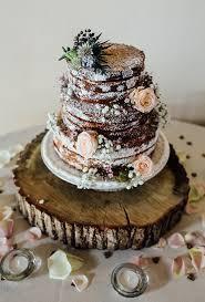 A Naked Chocolate Wedding Cake
