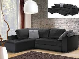 canapé d angle gauche convertible cuir luxe noir audace