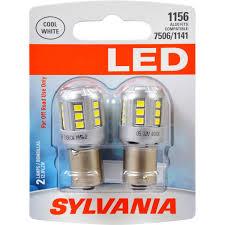 sylvania 1156 white led bulb contains 2 bulbs