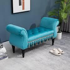 homcom luxus sitzbank polsterbank hockerbank polyester