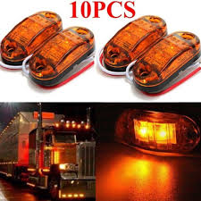 100 Truck Marker Lights Details About 10x Trailer Side Amber Signal Indicator Lamp For Trailer US