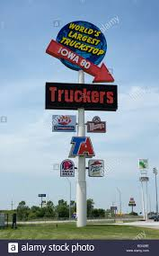 Worlds Largest Truck Stop Is Iowa 80 On Interstate 80 Stock Photo ...