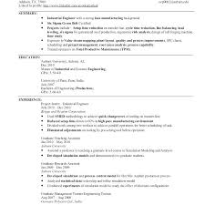 Engineering Resume Format For Freshers Pdf Junior Industrial Engineer Unusual Sample Automation E