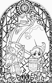 Legend Of Zelda Coloring Pages For Adult