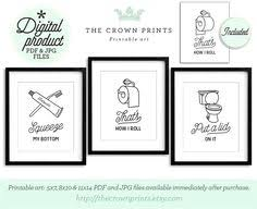 Printable Dua For Entering The Bathroom by 9 Hilarious Bathroom Art Prints To Keep Things Light And Fun