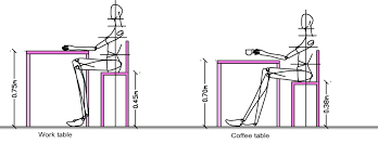 Body Measurements Ergonomics For Table And Chair Dining Or Desk