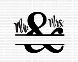 SVG Wedding Sign Couples Mr Mrs Clip Art Cut Files
