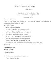 Objective On Resume For Receptionist Tips