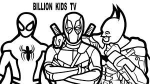 Spiderman Vs Batman Deadpool Coloring Book Pages Kids Fun Art Activities Video For