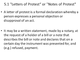 5 Notes of protest 5 1 Letter of protest 5 2 Sea protest ppt