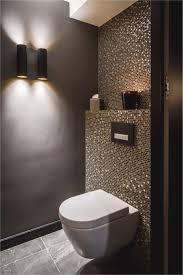 badewanne fliesen luxus idee gäste wc mosaik glimmer dunkle