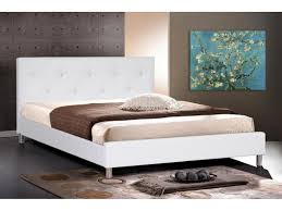 Black Leather Headboard Double by White Leather Bed Frame Naples Modern Black And White Leather