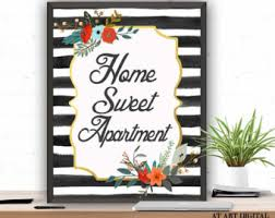 Apartment Gift Instant Download Home Sweet Wall Art Floral