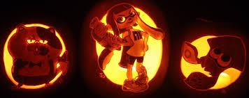 Nintendo Pumpkin Stencils by Stay Fresh Splatoon Pumpkin Trio By Johwee On Deviantart