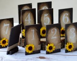 Sunflower Wedding Decorations Fall Table Numbers Rustic Serving And Dining