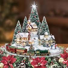 Thomas Kinkade Christmas Tree For Sale by The Thomas Kinkade Illuminated Animated Centerpiece Hammacher