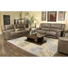 Catnapper Power Reclining Sofa by Catnapper Carmine Lay Flat Reclining Leather Sofa Set In Smoke