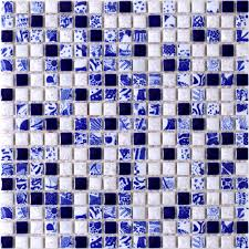 new design blue white porcelain mosaic tiles fambe flower