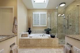 half hexagonal glass shower space decorated chandelier tub shower