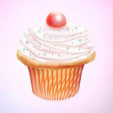 Fancy Cupcake Drawing Process
