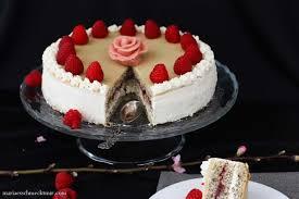 phantastische mohn sahne torte mit marzipan es