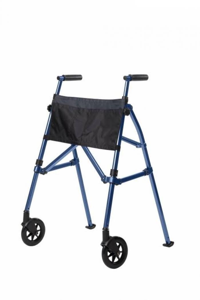 Stander EZ Fold N Go Walker Height Adjustable Lightweight Travel Walker - Cobalt Blue, 7.5lbs