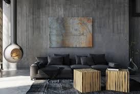 metall effekt wand rost industrial leinwand l0228