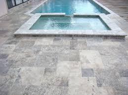 6x6 White Pool Tile by Silver Travertine 8 X 8 Tumbled Pavers Tile Lpavtsil88t