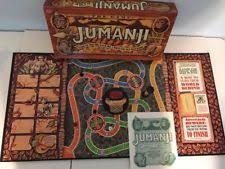 Jumanji Board Game By Milton Bradley Vintage 1995 Complete Ages 8