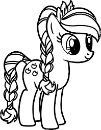 Pony Cartoon My Little Coloring Pages