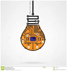 Creative Light Bulb Idea Concept Template Circuit Sy