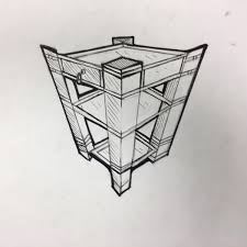 Three Point Perspective Drawing Of An Object SKETCH EVERY