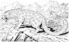 Leopard Hard Coloring Pages Free Large Images