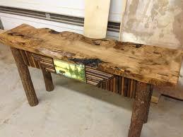 Long Rustic Sofa Table